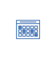 timetable line icon concept timetable flat vector image