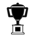 trophy cup on podium first place icon image vector image vector image