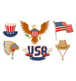 usa items objects collection vector image vector image