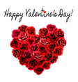 valentines day background heart made red roses vector image vector image