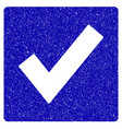 valid icon grunge watermark vector image vector image