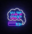 vape shop logo neon neon sign design