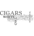 white owl cigars text word cloud concept vector image vector image