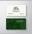 wilderness wood abstract vintage logo and vector image
