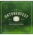 Oktoberfest vintage poster or greeting card vector image