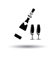 Party champagne and glass icon vector image