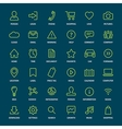 Set of basic green outline icons for print or web vector image
