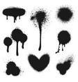 Spray paint set vector image