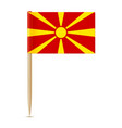 flag of macedonia flag toothpick 10eps vector image