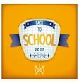Back to school 3D badge vector image