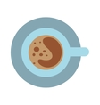 Coffee cup and saucer top view morning drink vector image