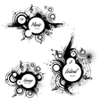 set of musical the grunge blots vector image
