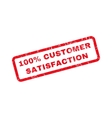 100 Percent Customer Satisfaction Text Rubber vector image vector image