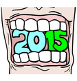 2015 year message vector image vector image