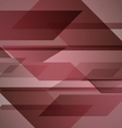 Abstract red background with geometric shapes vector image vector image