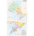 administrative map ontario canada vector image vector image