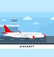 airplane on runway flat vector image vector image