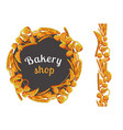 bakery hand drawn on white background vector image