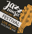 banner for festival jazz music with a guitar neck vector image vector image