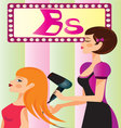 beauty-parlor vector image vector image