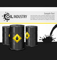 black oil industrial poster vector image