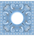 blue colour floral round pattern in ukrainian vector image vector image