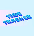 blue isometric time tracker composition banner vector image
