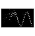 bright destructed pixel halftone sinusoid icon vector image vector image