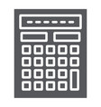 calculator glyph icon mathematics and accounting vector image vector image