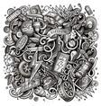 cartoon doodles electric cars vector image vector image