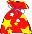 Christmas bag with gifts vector image