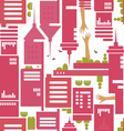 cityscape pattern vector image vector image
