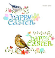 collection invitation cards with happy easter vector image vector image