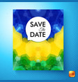 colorful save the date wedding invitation template vector image