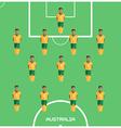 Computer game Australia Football club player vector image