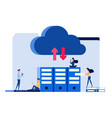 concept of technology cloud computing service vector image