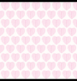 creative valentines pink leaf pattern background vector image vector image