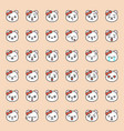 cute bear emotion face in various expession vector image vector image