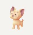 detailed cute bulldog vector image