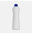detergent bottle mockup realistic style vector image vector image