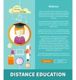 Distance Education and Learning Concept vector image vector image