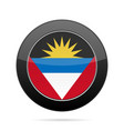 flag of antigua and barbuda black round button vector image vector image