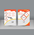 flyer design template orange and sweet concept vector image vector image