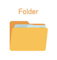 full folder yellow container for documents vector image vector image