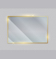 gold glass transparent banners golden frame vector image vector image
