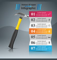 hammer recovery and repair business infographics vector image vector image
