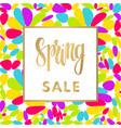 hello spring sale banner vector image vector image