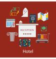 Hotel flat design vector image