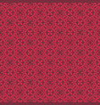 korean traditional red flower pattern background vector image