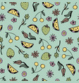 lovely seamless pattern with hand-drawn fruits vector image vector image
